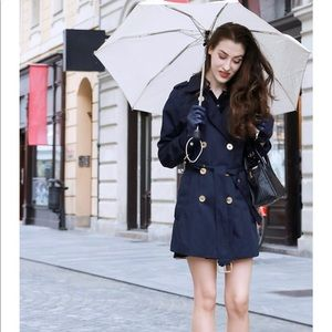 Michael Kors Navy Trench Raincoat